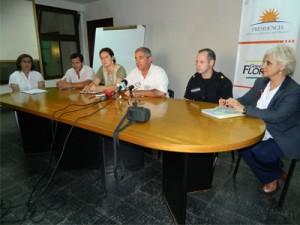 conferencia de prensa sobre jornada de descacharrizacion